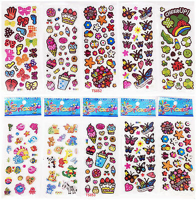 10 Sheets 3d Child Wall Scrapbooking & Paper Kids Crafts Stickers Lot Party B51