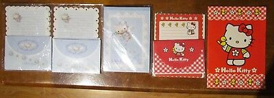 SANRIO *HELLO KITTY* Stationary 5 SETS !NEW/UNUSED! WITH STICKERS!