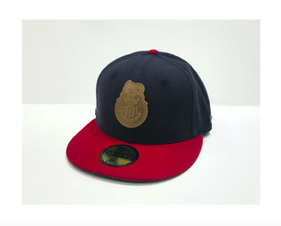 a35c4d142cd Liga Mexicana Chivas de Guadalajara New Era 59Fifty Retro Leather Patch  Navy Red