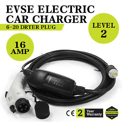 Electric Car Charger 6-20 Plug Level 2 Charger 23 Long 220V-240V Compact Led