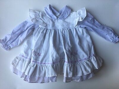 Vintage Baby Dress Purple Floral White Pinafore 18 Months Philippines