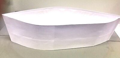 10 White Adjustable Paper Soda Jerk Hat. Also known as Overseas/Forage Cap.