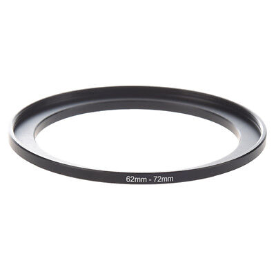 2X(Camera Parts 62mm-72mm Lens Filter Step Up Ring Adapter Black O3Q7)