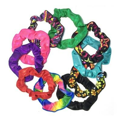 US Shiny Hair Scrunchie-Cheer Dance Gymnastics Sports Team Pageant Accessaries