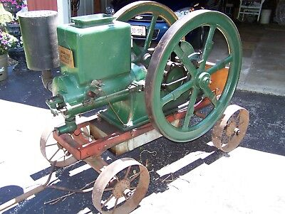 SCARCE Old 7hp STEINER Long Life Hit Miss Gas Engine Sumter Magneto Plymouth WI