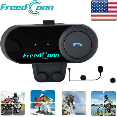 500m Motorcycle Helmet Intercom Bluetooth Interphone Headset FM Radio 3 Riders