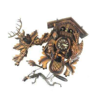 Vintage West German Coo Coo Clock 7695-703 For Repair Only