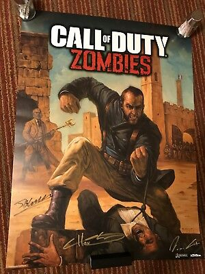 Signed SDCC 2018 Call Of Duty Zombies Poster