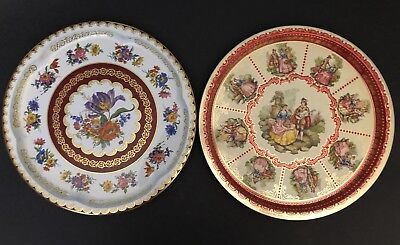 Early 1900's Vintage Tin Litho Serving Trays Made in England