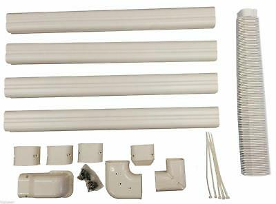 Decorative PVC Line Cover Kit for Mini Split Air Conditioners and Heat Pump Pipe