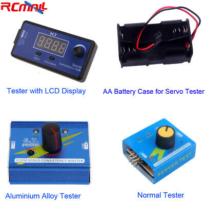 3CH Aluminium Alloy Digital Multi RC Servo Tester ESC Checker AA Battery Case