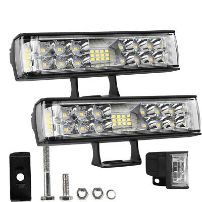 "12inch Slim LED Work Light Bar 544W Spot Flood Truck UTE ATV Offroad 13"" 14"" 10"""