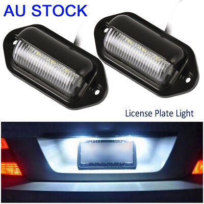 2PCS 6LED 12V License Number Plate Light Tail Rear Lamp For Truck Trailer Lorry