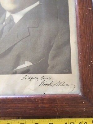 Woodrow Wilson Framed and Autographed Photo