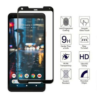Full Cover 3D Curved Tempered Glass Screen Protector For Google Pixel 2 / 2 XL