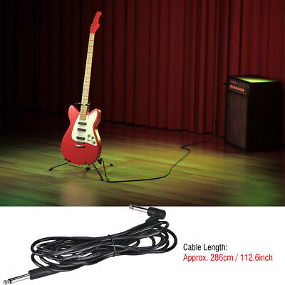 10feet GUITAR BASS AMPLIFIER AMP CABLE ELECTRIC PATCH LEAD CORD CONNECTING WIRE