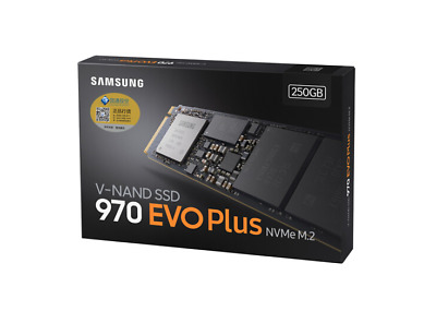SAMSUNG 250GB M.2 2280 970 EVO plus SSD MZ-V7E250BW Internal NVMe PCIe 3.0 TLC