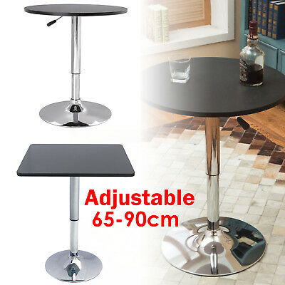 Adjustable Kitchen Chrome Bar Table Sofa Side End Coffee Dining Tall Breakfast