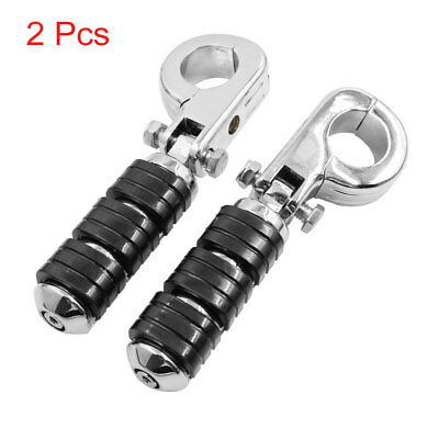 """Pair 1 1/4"""" 32mm Engine Guard Clamp Mount Foot Pegs Footrest Pedal for Harley"""