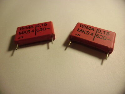 10pcs-Wima MKS02 0.15uF 0.15µF 150nF 2.5 mm polyester condensateur 63 V 10/% Pitch
