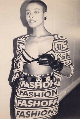 Iconic Moschino Couture S/S 1992 Fashion Fashoff Ensemble as worn by M.I.A