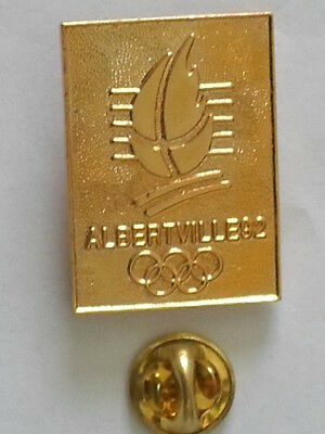 pin's Neuf  - JEUX OLYMPIQUES ALBERTVILLE 1992 - Couleur OR -