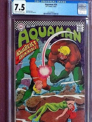 Aquaman 34, cgc 7.5, Cardy cover and art!