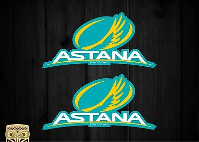 Pegatina Sticker Team Astana Pro Cycling Team Pro Tour Uci Laminated X2