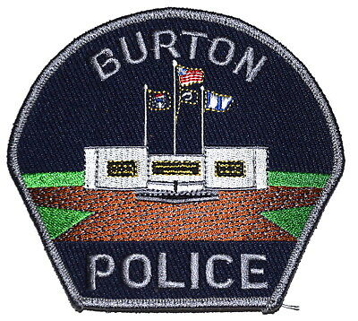 BURTON MICHIGAN MI Police Sheriff Patch COURTHOUSE STATE FLAG US FLAG ~