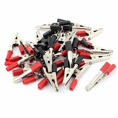26pcs Breadboard Test Alligator Clip Clamp 55mm Red Black S1R1