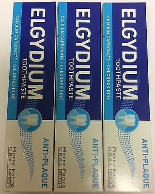 6 X Elgydium Anti-Plaque Toothpaste 75ml      SPECIAL PRICE