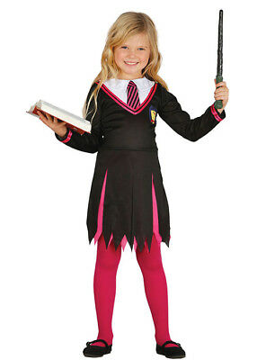 Kids The Worst Witch Style Pink Student Witch Costume
