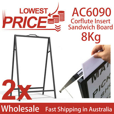 2x Corflute Insert A-frame/Sandwich Board Advertising Display Poster Stand