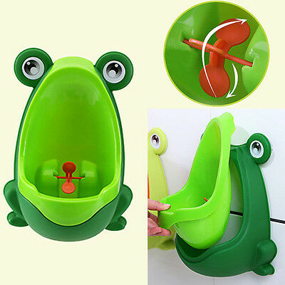 Frog Children Potty Toilet Training Kids Urinal Baby Boys Pee Trainer BathrooVHT