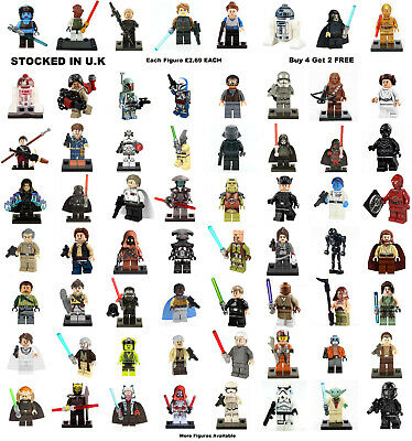 Star Wars Minifigure Rebels Clone Wars Rogue One Han Solo Mini Figure £2.49 Each