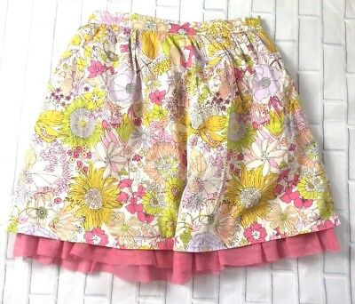 Liberty of London For Target Girls Floral Skirt Pink Underlay Elastic Size XL