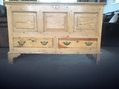 A Late 18th Century Stripped Pine Mule Chest.