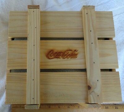 Wooden Coca-Cola Box/Crate with 8 Christmas Ornaments