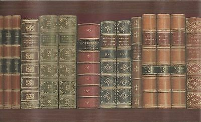 Library Books on the Shelf Wallpaper Border MN5020