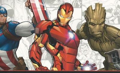 Marvel Avengers Heros Save the World on Sure Strip Wallpaper Border DY0262BD