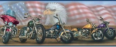 USA Motorcycle / Motorcycles Easy Walls Wallpaper Border BYR92321B / BBC92321B