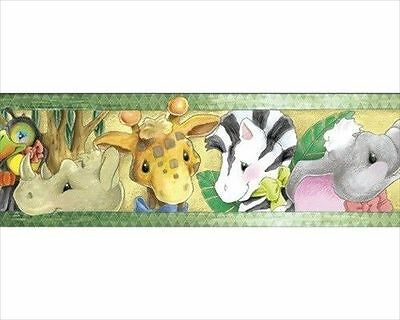 Zootles Peel & Stick Jungle Animals for Kids Wallpaper Border 51653