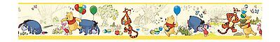 Pooh & Friends Toile in Yellow Mural Wallpaper Border DK5839BD