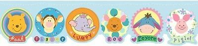 Winnie the Pooh & Friends for Babies on Blue Laser Cut Wall Border DF059171D