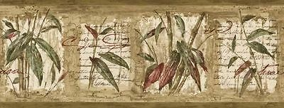 Bamboo & Leaf with Writing Wallpaper Border 80B64171