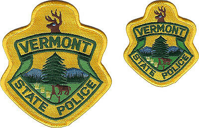 Vermont State Police Shoulder Patch and Hat Patch - New