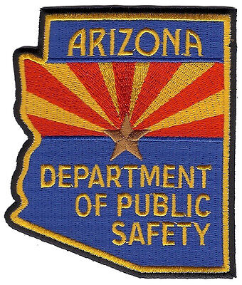 Arizona Department Of Public Safety Shoulder Patch 4 inches tall by 3 3/8 inches