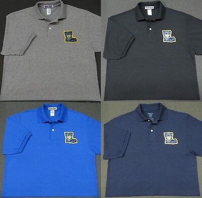Louisiana State Police Patch Polo Shirt - MED to 3XL - 4 Colors - NEW
