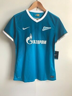 Nike Women's Zenit St Petersburg Football Home Shirt - Large (14) - Blue - New