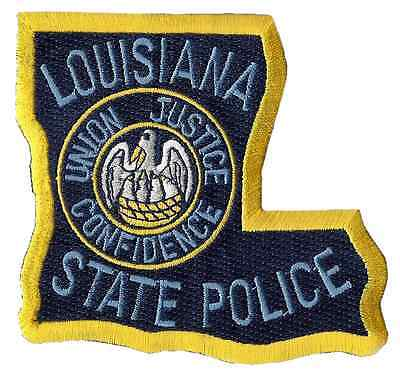 """Louisiana State Police Shoulder Patch - 3 1/2"""" tall by 3 3/4"""" wide - NEW"""